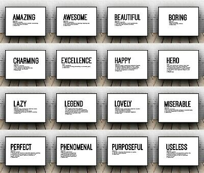Add your name Personalised Dictionary Definitions All Sizes Funny Wall Art