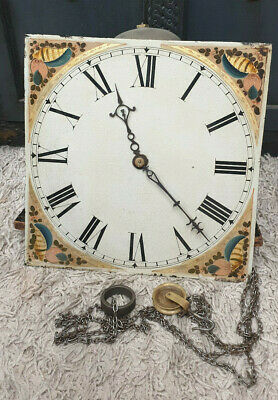30 Hour Painted Dial Birdcage Longcase/Grandfather Clock Movement-No Reserve!