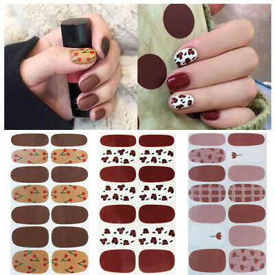 Nail Stickers Wraps Flowers Mixed Patterns Self-adhesive Full Cover 3D Nail Art