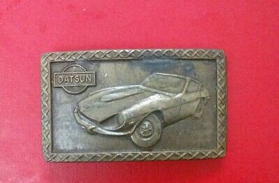 VINTAGE 1970s DATSUN SPORTS CAR COMMEMORATIVE BELT BUCKLE IN GOOD CONDITION