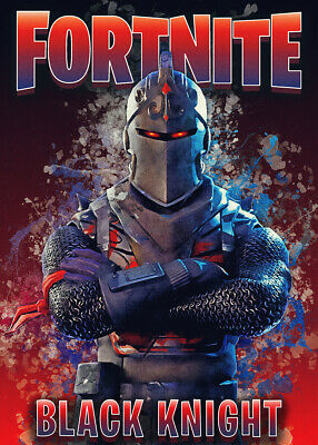 Unofficial Glossy Game Posters, Wall Art, Battle Royal, Black Knight, Fortnite