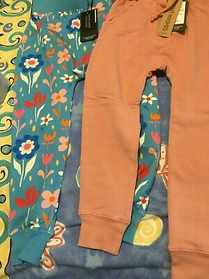 Rock Your Baby Pink Drop Crutch And Mod Floral  Pants  Sz 6  Bnwt