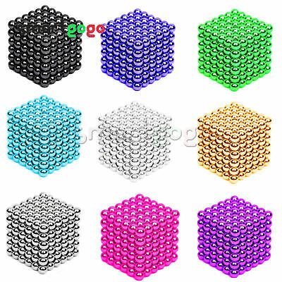 216PCS 3/5mm Magic Magnets Ball Neodymium 3D Puzzle Cube Stress Relief BSG