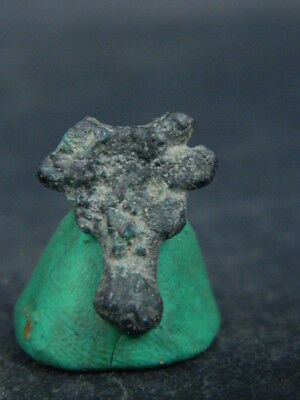 Ancient Bronze Ram Head Bactrian 300 BC #BR6668