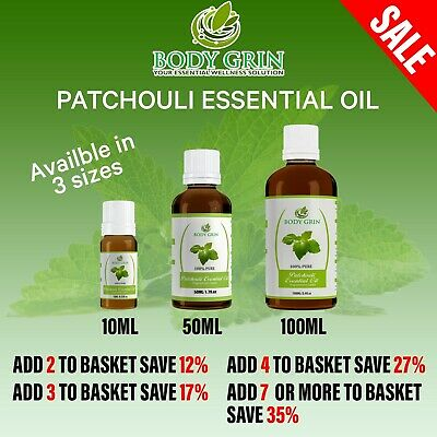 Patchouli Essential Oil 100% PURE Natural Therapeutic Grade, Aromatherapy