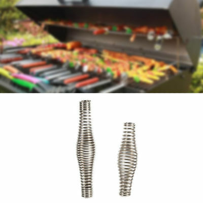 4pcs 11/&14cm Outdoor BBQ Pit Grill Steel Handle Springs Furnace Stove Smoker