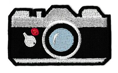 Patch écusson patche appareil photo thermocollant hotfix brodé badge