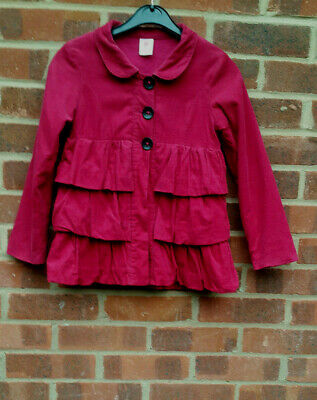 PUMPKIN PATCH pink corduroy coat size 7 (125 cm)