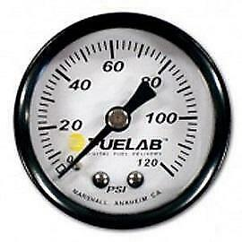 Fuelab Efi Fuel Pressure Regulator Gauge; 0-120 Psi