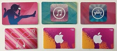 Lot 6x App Store iTunes Gift Cards (Total $100)