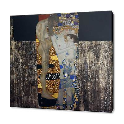 The Three Ages Of Woman Gustav Klimt Canvas Print Picture Wall Art Free P&P