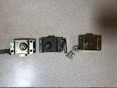 WESTERN ELECTRIC  3-3 SLOT PAYPHONE VAULT DOOR 30C LOCK AND 2 KEYs Each