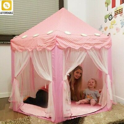 Play House Kids Tent Toy Ball Pool Princess Girl's Castle Folding Playtent Baby