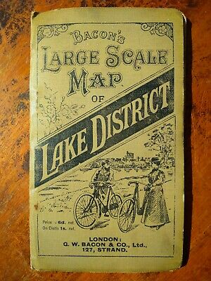 Bacon's Large Scale Map of Lake District, circa 1900's