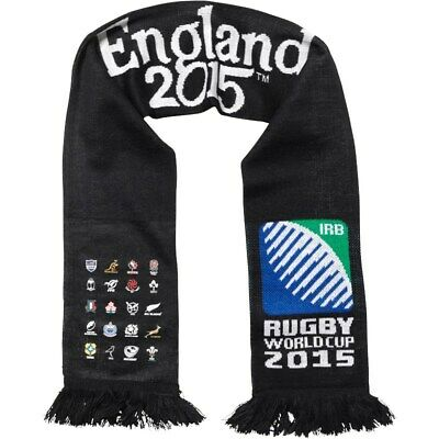 Rugby World Cup RWC 2015 20 NATIONS Script Scarf & ENGLAND Cap.**BNWT** Free p&p