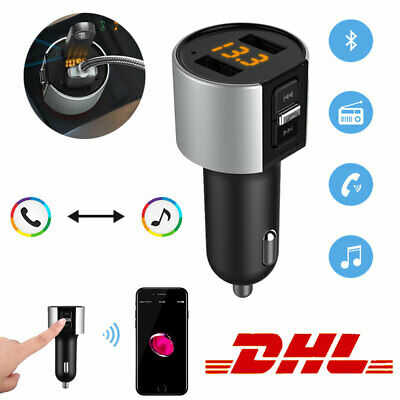 Bluetooth FM Transmitter MP3 Player SD Auto USB Stick KFZ AUX Freisprechanlage