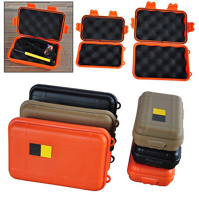 Waterproof Outdoor Plastic Airtight Survival Case Container Storage Carry Box bk