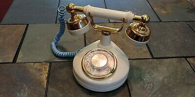 Vtg Western Electric Creme Color French Princess Style Rotary Phone WORKS