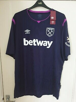 West Ham United Umbro Official Third Short Sleeve T-Shirt 4XL 2019/20 #Box 27