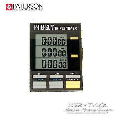Paterson Darkroom Triple Timer ~ Excellent Tool!