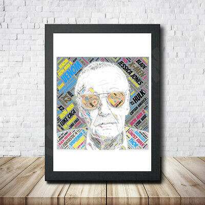 Stan Lee Personalised Childrens Christening Word Art Gift Present Print Poster