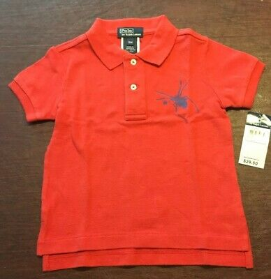 Ralph Lauren Polo Shirt Red Blue July 4th Independence Day 18 Months NWT