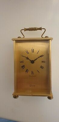 Solid Brass Mantle/ Carriage Clock