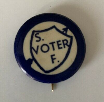 Woman Suffrage First Votes For Women Pinback Pin Button Voter