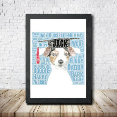 Russel 2 Personalised Childrens Christening Word Art Gift Present Print Poster