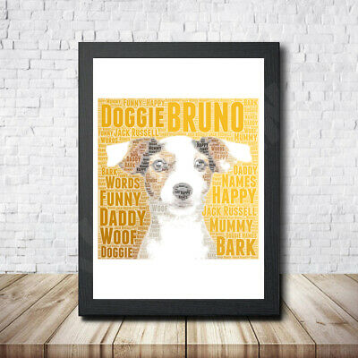 Russel Personalised Childrens Christening Word Art Gift Present Print Poster