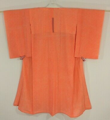 Japanese women's juban, for kimono, orange, vintage, Japan import (AB2712)