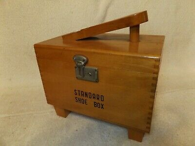 "VINTAGE SHOE SHINE KIT STANDARD SHOE SHINE BOX w/ LATCH 11"" LONG VERY NICE"