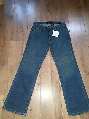 "Calvin Klein Low Rise Bootcut Faded Med Blue Jeans Size 12 W30"" L30"" -  Bnwt"