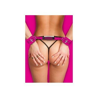 Adjustable Leather Handcuffs - Pink Manette Sexy Gioco erotico per la coppia BDS