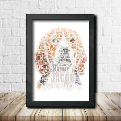Beagle 1 Personalised Childrens Christening Word Art Gift Present Poster