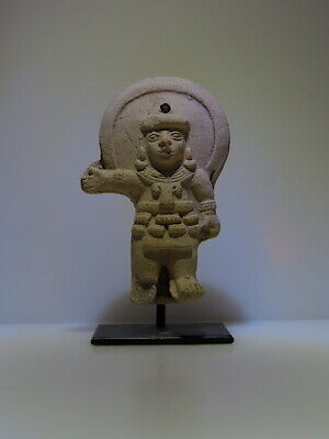 Pre Columbian snake warrior priest ceramic moon figure wTL test Report! LaTolita