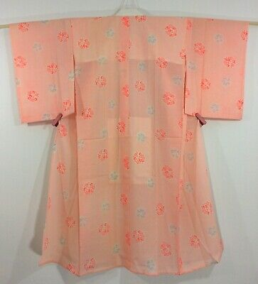 Japanese women's juban, for kimono, pink, vintage, Japan import (AB2713)