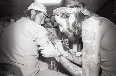 1970s OLD NEGATIVE LYLE TUTTLE COLL. UNKNOWN TATTOO ARTIST TATTOO CONVENTION C14