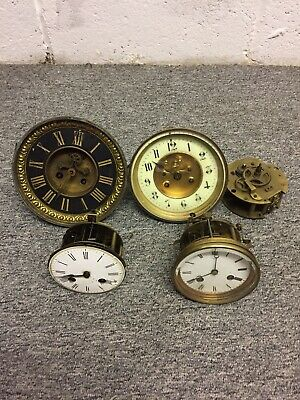 Joblot Five Antique 19th Century French Clock Movements