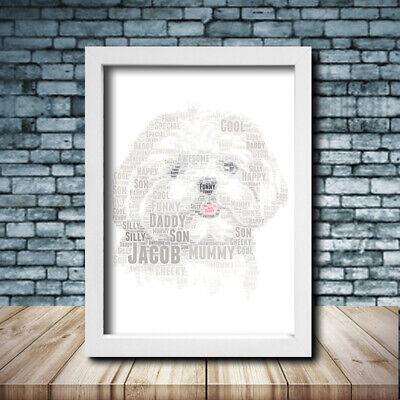 SHIATSU Pet Print Poster Word Art Gift Present Print love your dog gift