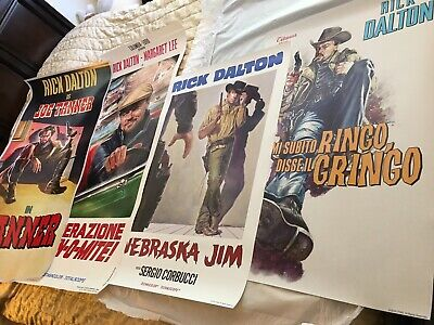 4 Original Studio Posters In Once Upon a Time in Hollywood Rick Dalton 2019 CTMG
