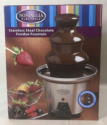 Nostalgia Electrics Stainless Steel Chocolate Fondue Fountain Used 1 Time (#324)