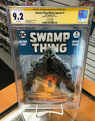 CGC SS 9.2 Swamp Thing: Winter Special 1 Second Printing Fabok DC Comics