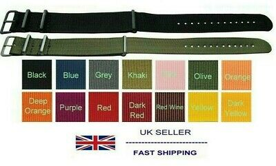 Fabric Canvas Military Army Watch Strap Many Colours 14mm to 24mm Sizes
