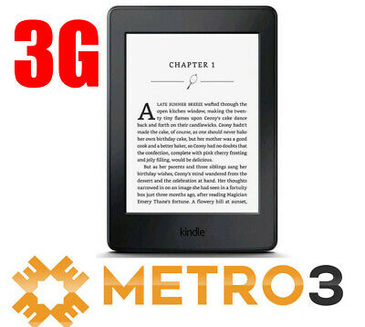 Amazon Kindle Paperwhite E-reader 7th Gen 300 ppi HiRes Touch w Light | Free 3G