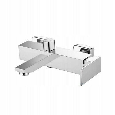 Chrome Silver Bath Shower Mixer Tap Single Lever Brass Wall Mounted (193)