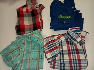 2T Boys Button Up Shirts Lot Of 4  (Wonder Kids,Old Navy and Place EST. 1989)