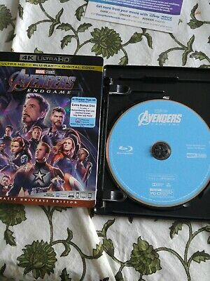 Avengers End Game Blu Ray Disc Only.....please read