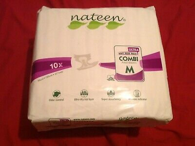 Nateen Medium Combi Ultra Nappy Ab Dl Diaper Sample X8 Stag Hen Party 5000ml