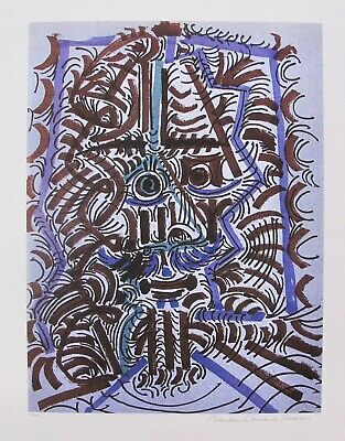 """Pablo Picasso FIGURE OF MANS HEAD Estate Signed Limited Edition Giclee 26"""" x 20"""""""